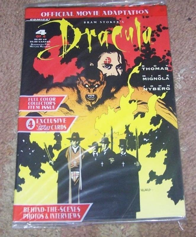 Bram Stoker's Dracula #4 (Jan 1993, Topps) POLYBAGGED WITH CARD