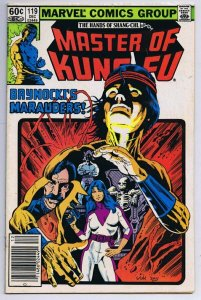 Master of Kung Fu #119 ORIGINAL Vintage 1982 Marvel Comics Shang Chi