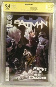 Batman #92 CBCS 9.6 First Print James Tynion IV Sign - 1st Full Punchline