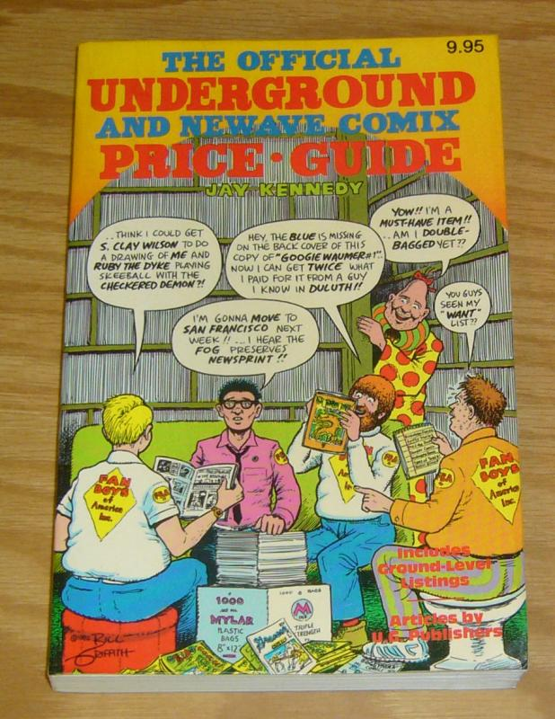 Official Underground and Newave Comix Price Guide SC VF jay kennedy - zippy 1982