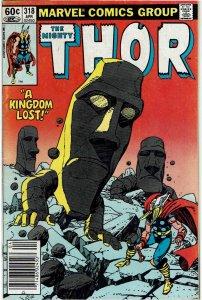 Thor #318 (1966 v1) Gil Kane Loki Newsstand VF