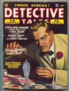 Detective Tales Pulp November 1946- Acid menace cover