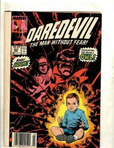 Lot of 7 Daredevil Marvel Comic Books #264 265 266 267 279 289 298 J369