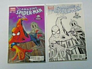 Amazing Spider-Man Color + Sketch Newbury Variants 8.5 VF+ (2015)