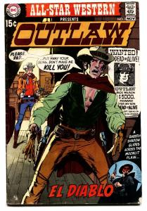 All-Star Western #2 comic book 1970 1st El Diablo- Neal Adams