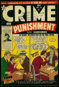 Crime and Punishment #13 1949- Biro cover- Mary Sullivan VG