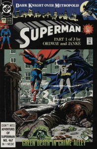 SUPERMAN #44, VF/NM, Ordway, Janke, Batman, 1987 1990, more in store