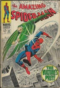 Amazing Spiderman #64 ORIGINAL Vintage 1968 Marvel Comics Vulture