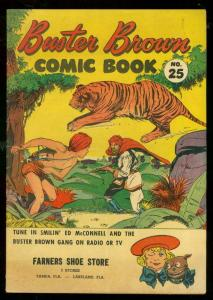 BUSTER BROWN #25-GIVEAWAY-WILD TIGER COVER-CRANDALL ART FN