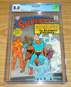 Superman #190 CGC 8.0 silver age dc comics - superman - jim shooter/curt swan