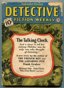 Detective Fiction Weekly Pulp October 12 1940- Talking Clock- French Key