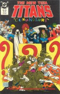 New Teen Titans (1984 series) #40, NM (Stock photo)