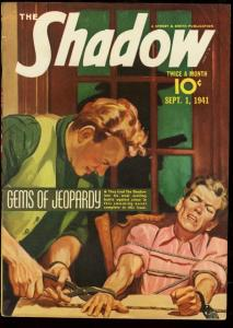 SHADOW 1941 SEPT 1-TORTURE COVER-PULP STREET & SMITH VF
