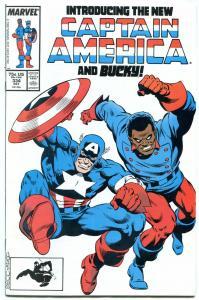 Captain America #334 comic book 1987-New Cap and Bucky--Marvel Copper Age NM-