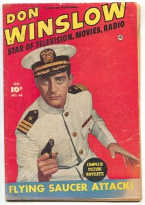 Don Winslow Comics #65 1951- FLYING SAUCER ATTACK G