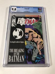 Batman 497 Cgc 9.8 White Pages Regular Edition Bane Breaks Batman Dc