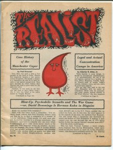 Realist #75 1967-Paul Krassner-Skip Williamson-Art Spiegelman-Gross-hippies-FN-