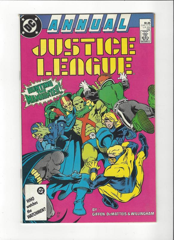 Justice League Annual #1 1987 DC Comics Copper Age  NM