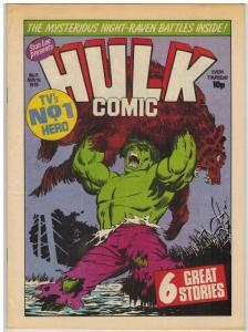 HULK (BRITISH WEEKLY) 11 VF-NM HULK BY PARKHOUSE/NEARY/