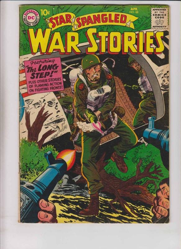 Star Spangled War Stories #68 VG april 1958 - silver age dc comics - long step