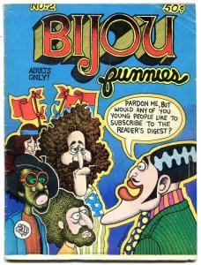 Bijou Funnies #2 1969- Crumb- Williamson- Lynch Underground Comix