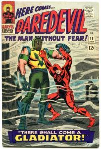 DAREDEVIL #18 1966 MARVEL COMIC- ORIGIN GLADIATOR ROMITA FN
