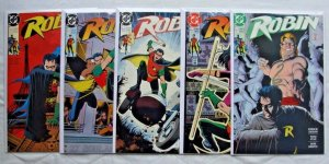 Robin #1 2 3 4 5 1st Limited Series (Jan 1991, DC) Complete Run