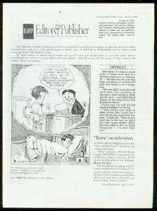 Editor & Publisher Newsletter April 9 1994-TERRY & PIRATES-