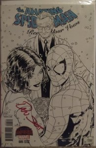 The Amazing Spider-man #5 NM Joe Quesada sketch cover A B+W signed by  Dan Slott