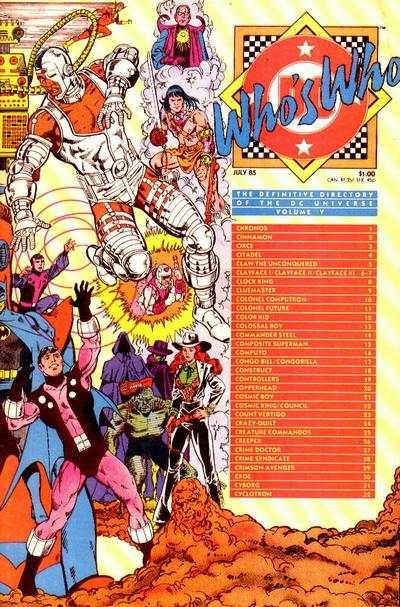 Who's Who: The Definitive Directory of the DC Universe #5, VF+ (Stock ph...