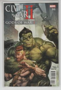 CIVIL WAR II GODS OF WAR (2016 MARVEL) #1 VARIANT VAR