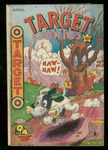 TARGET COMICS v.6 #2 1945-THE CADET-CHAMELEON-WW II ERA VG