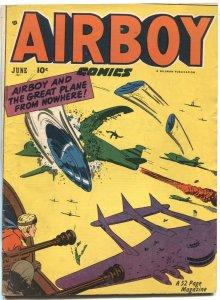 AIRBOV VOL 8 #5-1951-HEAP-FLYING SAUCER AIR WAR COVER-HILLMAM PUBS-RARE