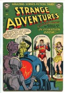 Strange Adventures #14 1951- Robot cover- Captain Comet- DC Sci-fi FN-