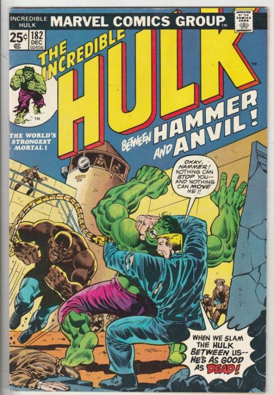 Incredible Hulk #182 (Dec-74) VF/NM High-Grade Hulk