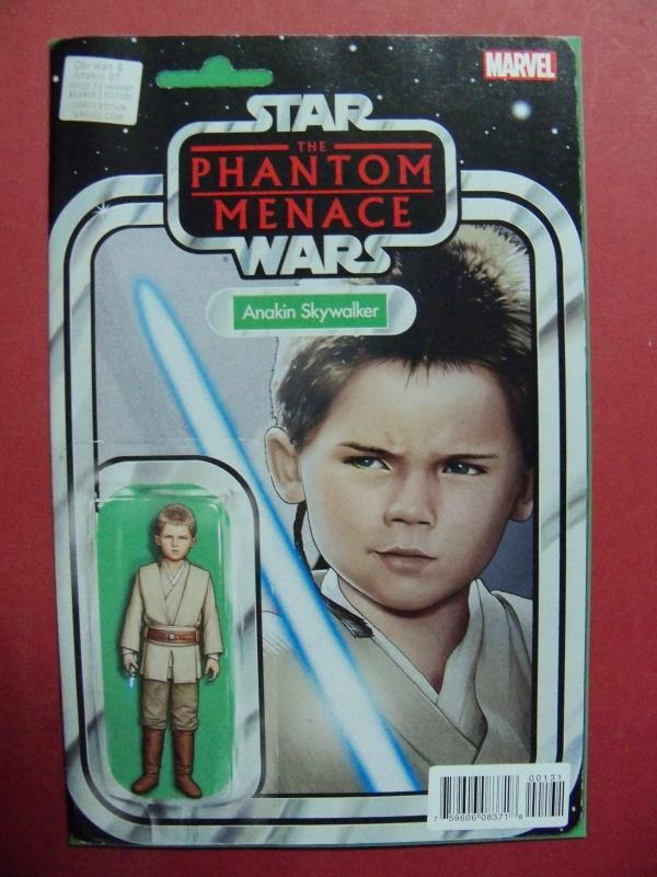 ANAKIN SKYWALKER #01 ACTION FIGURE VARIANT  COVER NM 9.4 MARVEL 2015 SERIES