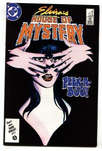 ELVIRA'S HOUSE OF MYSTERY #4 1986 cool cover - comic book