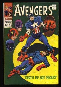 Avengers #56 FN+ 6.5 Marvel Comics Thor Captain America