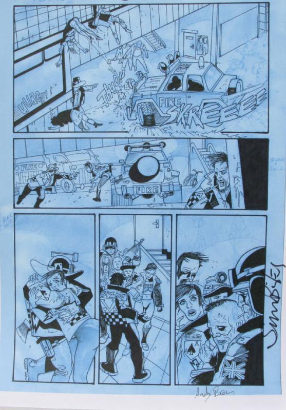 SIMON BISLEY / Andy Brown Original art, KINGDOM of FLIES #2, Signed, Zombies