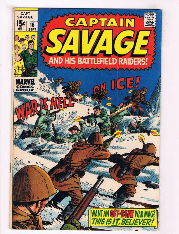Capt Savage & His Leatherneck Raiders #16 VG/FN Marvel Comic Book July DE37 TW7