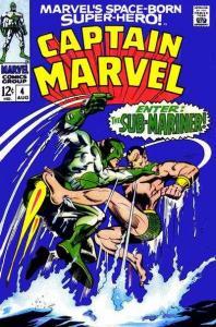 Captain Marvel (1968 1st Series Marvel) 4 stock photo