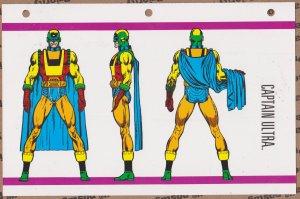 Official Handbook of the Marvel Universe Sheet- Captain Ultra