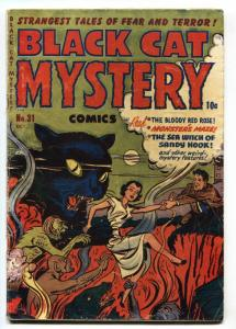 Black Cat Mystery #31 1951- Precode horror  torture cover VG
