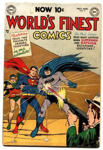 WORLD'S FINEST #71 1954-1st SUPERMAN / BATMAN TEAM UP-Scarce Golden-Age