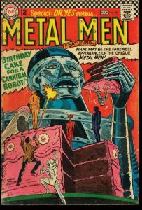 METAL MEN #20-ROBOTO COVER-DC SILVER AGE VG
