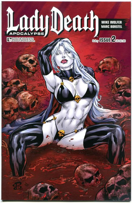 LADY DEATH Apocalypse #2, NM, Wolfer, Camillo, Sultry cvr, Femme Fatale, 2015
