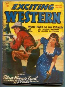 Exciting Western Pulp November 1949- Tombstone & Speedy-WC Tuttle