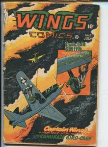 Wings #71 1953-Fiction House-Oriental villain-babe whipped-Capt Wings-P/FR