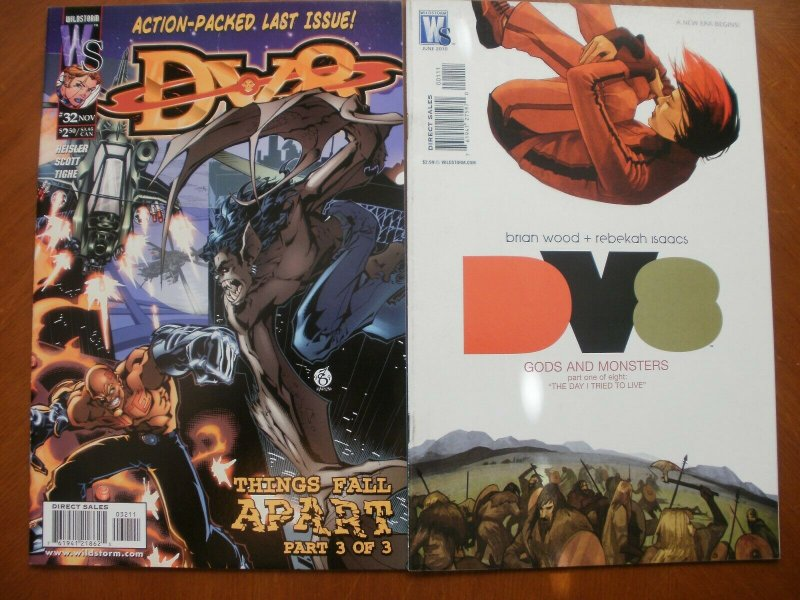 2 Near-Mint Wildstorm WS Comic: dv8 #32 (1999) & DV8 GODS AND MONSTERS (2010)