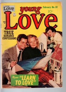 YOUNG LOVE #30-1952-ROMANCE-JACK KIRBY ART-PHOTO COVER---VG/FN